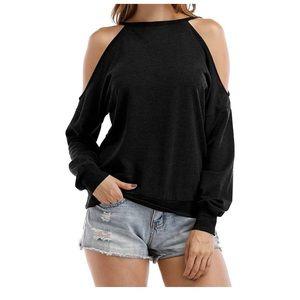 🌻 Sarin Mathews Cold Shoulder Halter Sweatshirt